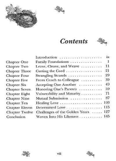HEN table of contents